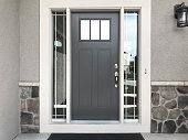front door stone pattern