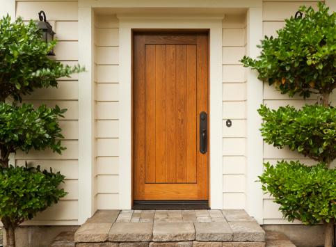 Front door and stoop.