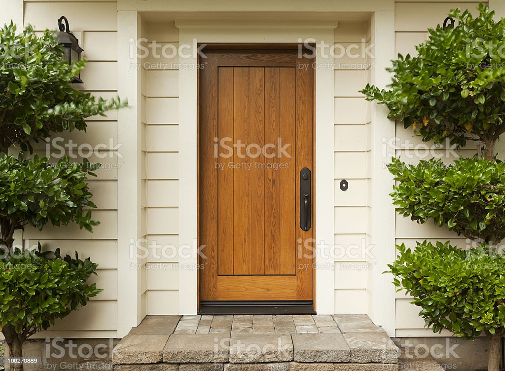 Front Door stock photo