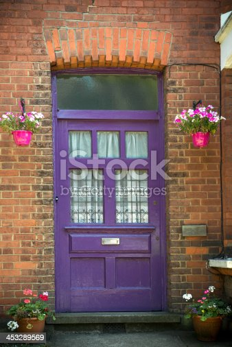 Front Door Of A Victorian House In England