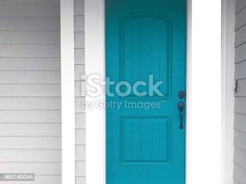 beautiful part of a turquoise door