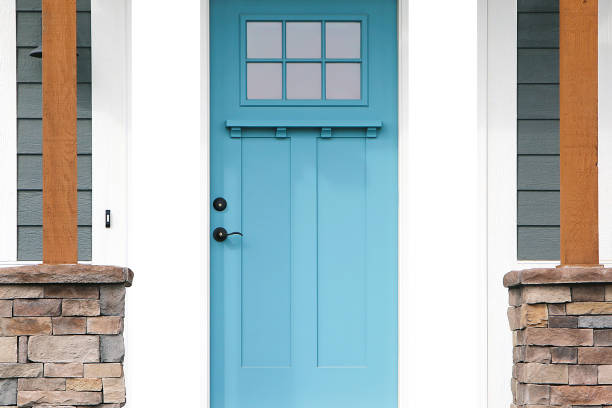 Front Door beautiful part of an aqua blue door front door stock pictures, royalty-free photos & images