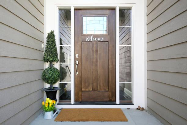 Front Door beautiful part of a wood door front door stock pictures, royalty-free photos & images
