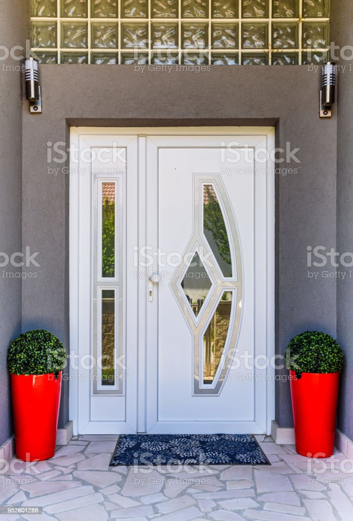 Front Door Pvc Stock Photo More Pictures Of Architecture Istock
