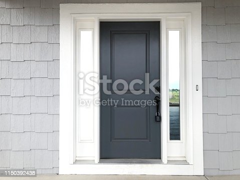 front door shingle siding