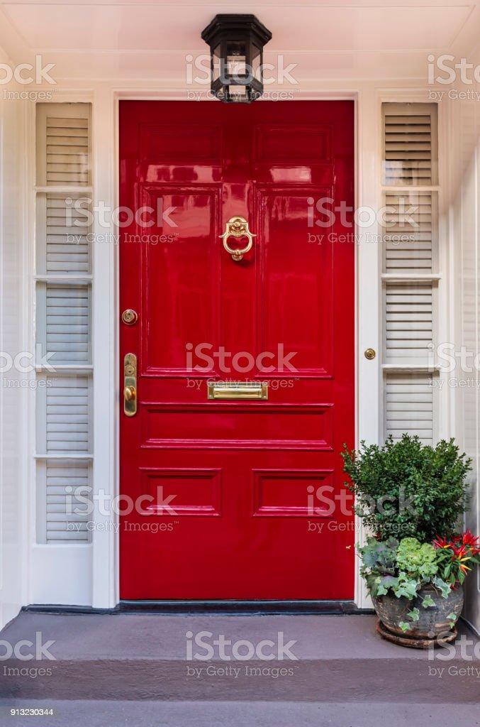 Haustür, das rot – Foto