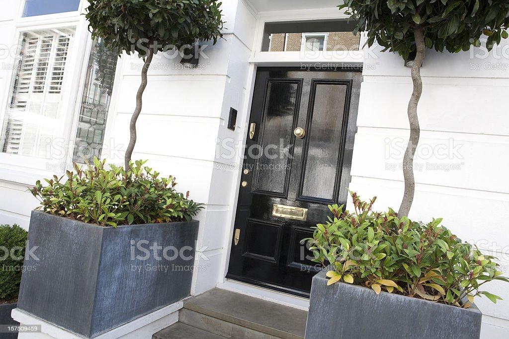 Front Door to Mews House stock photo