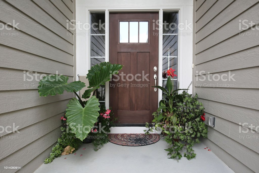 Front Door Tropical Plants Stock Photo More Pictures Of
