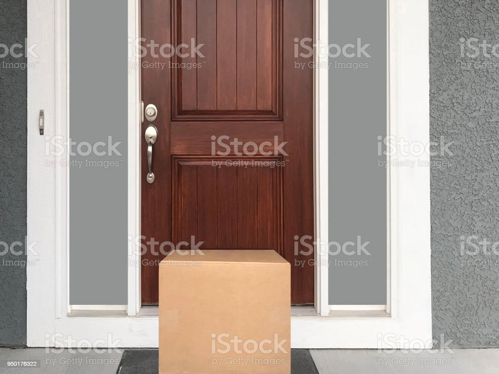 Front Door with Package stock photo & Royalty Free Package Front Door Pictures Images and Stock Photos ...