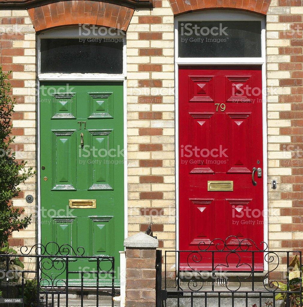 Front doors royalty-free stock photo