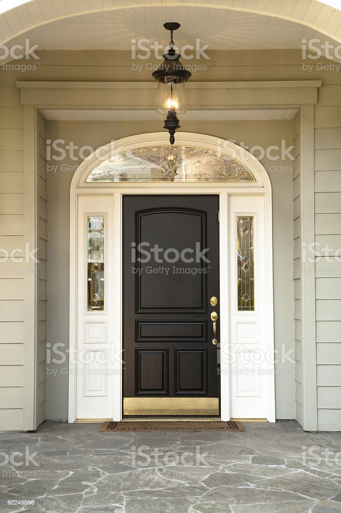 Front Doorway with stone flooring, royalty-free stock photo