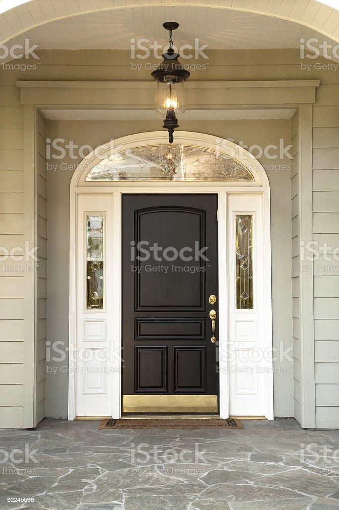 Front Doorway with stone flooring, stock photo