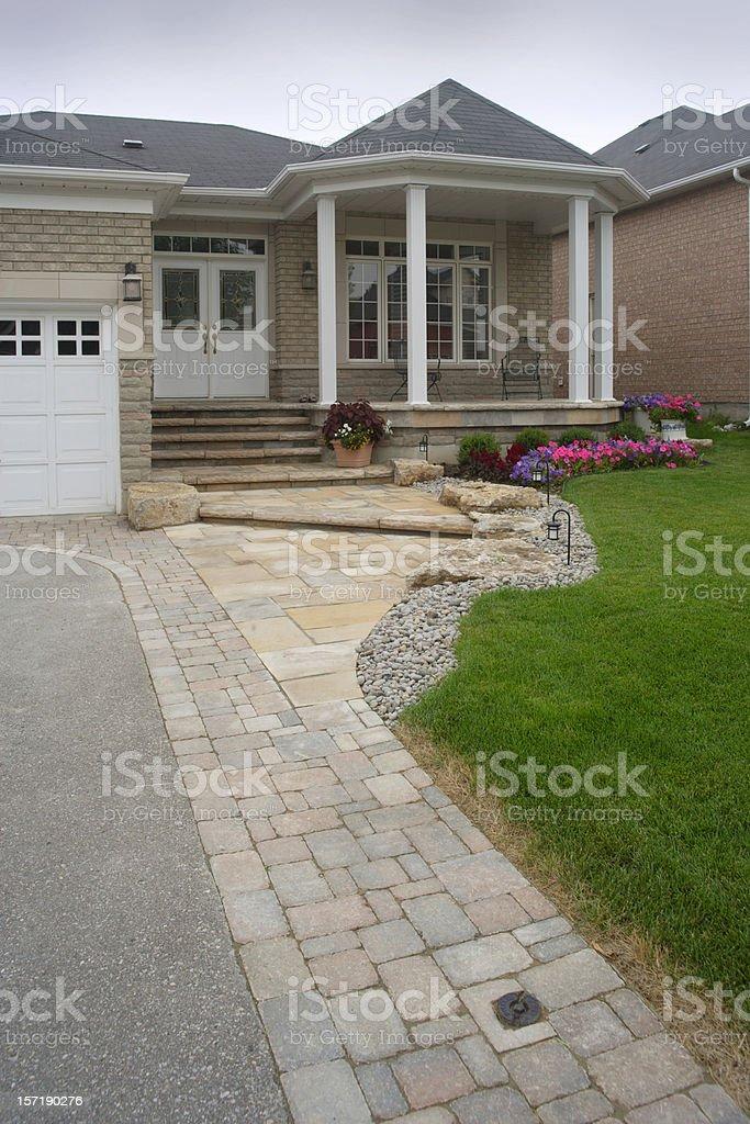 Front Driveway stonework royalty-free stock photo