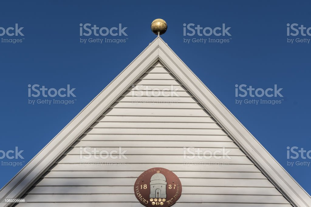 Front Elevation Of A Medieval Norwegian Gatehouse Stock Photo & More