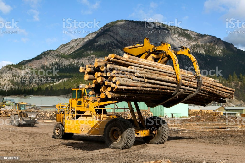 front end log loader stock photo