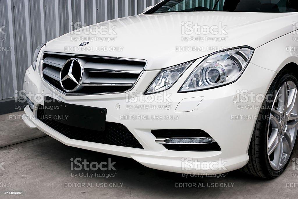 Front End of a Mercedes-Benz E 200 coupe stock photo