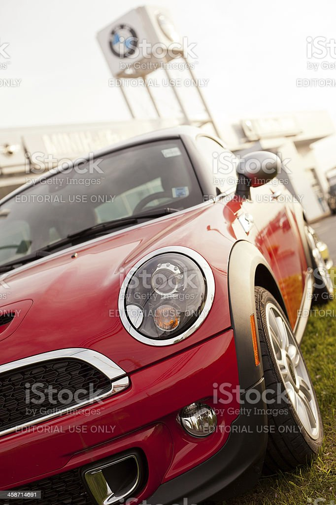 Front End of a New Mini Cooper S royalty-free stock photo