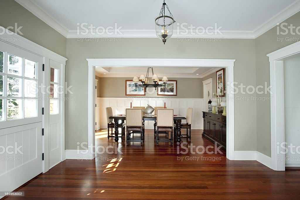 Front entrance and dining room stock photo istock for Dining room entrance