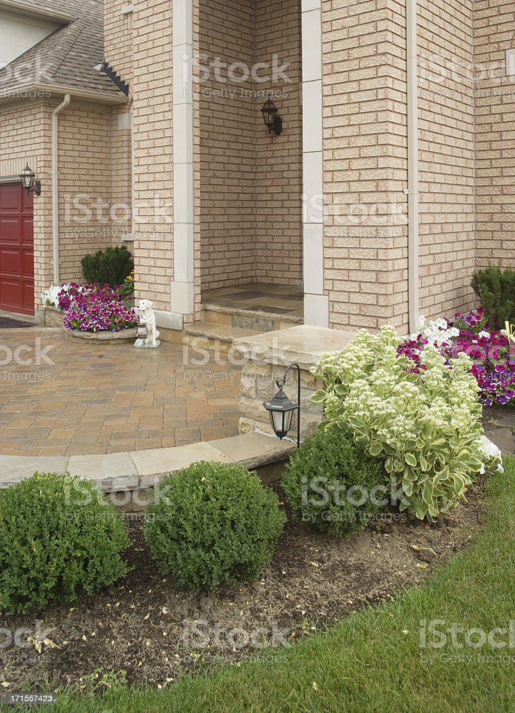 Front Entrance Landscaping royalty-free stock photo