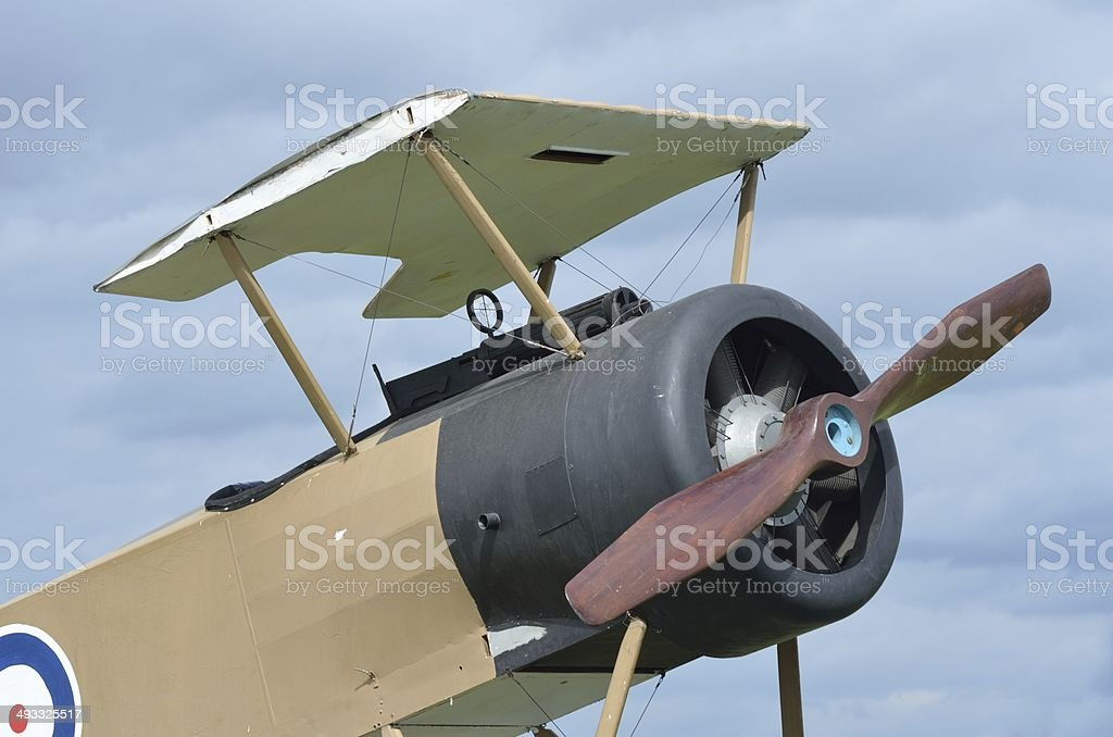 Front half of war plane royalty-free stock photo