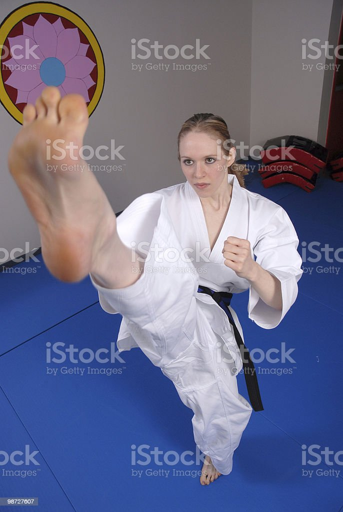 Front kick energy royalty-free stock photo