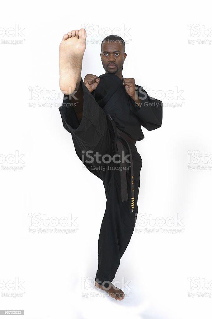 Front kick royalty-free stock photo