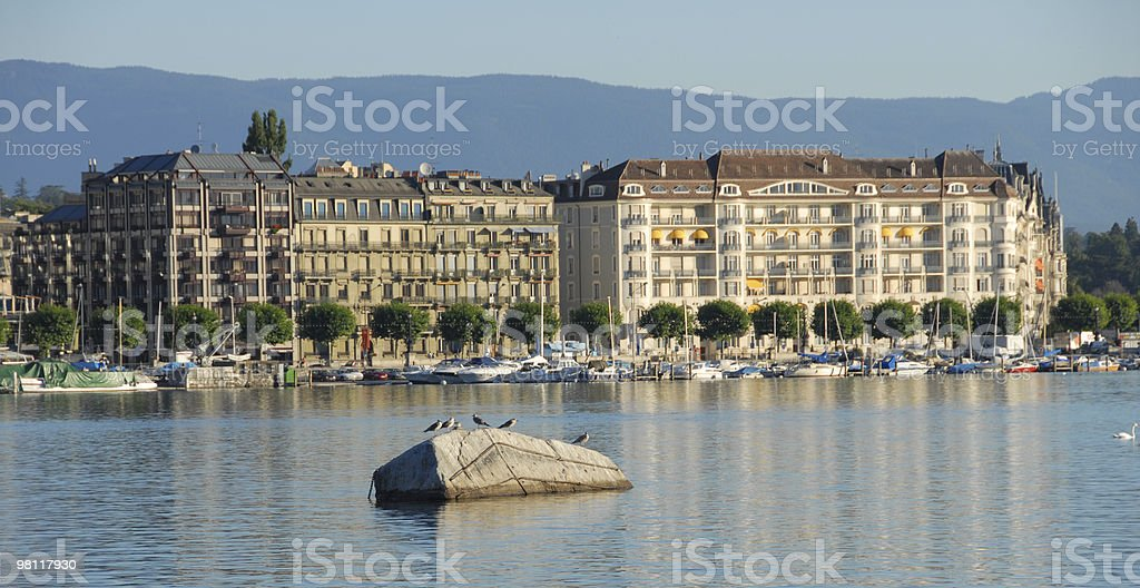 Front Lake of Geneva royalty-free stock photo