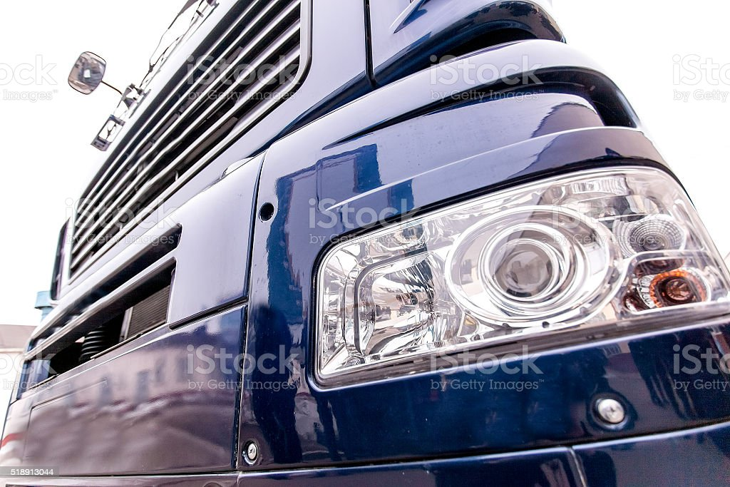 Front light of a modern truck stock photo