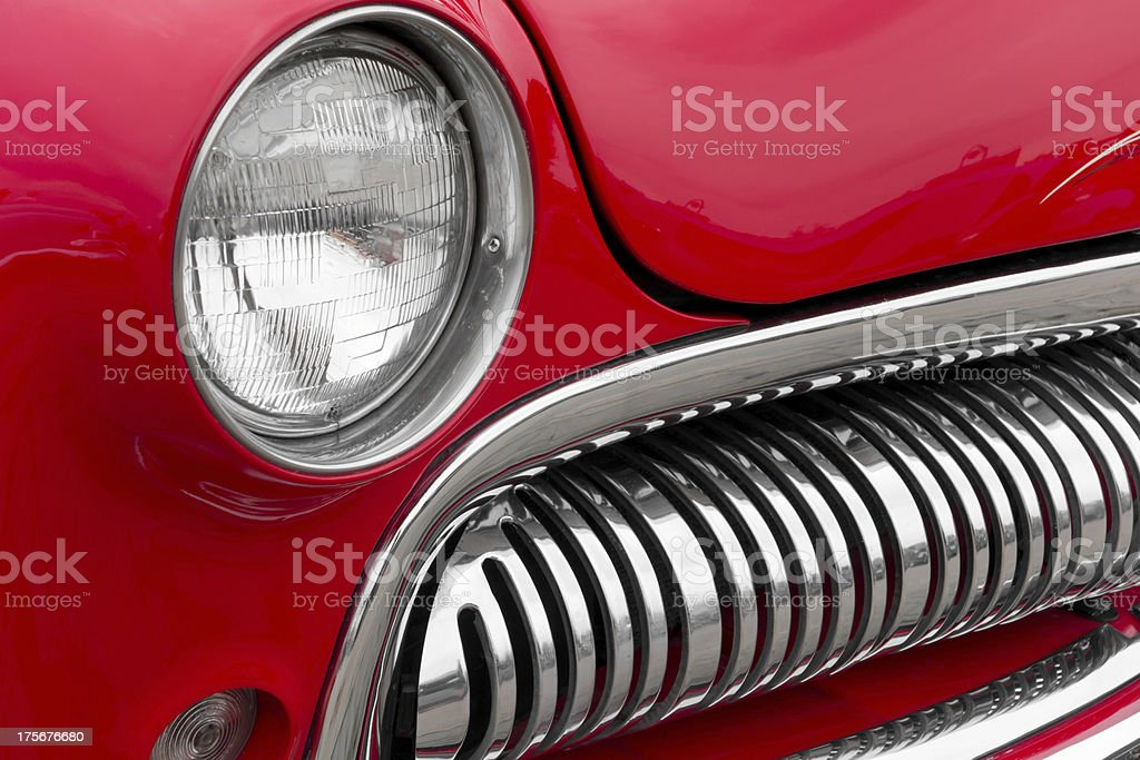 Front lights of an Old vintage car royalty-free stock photo