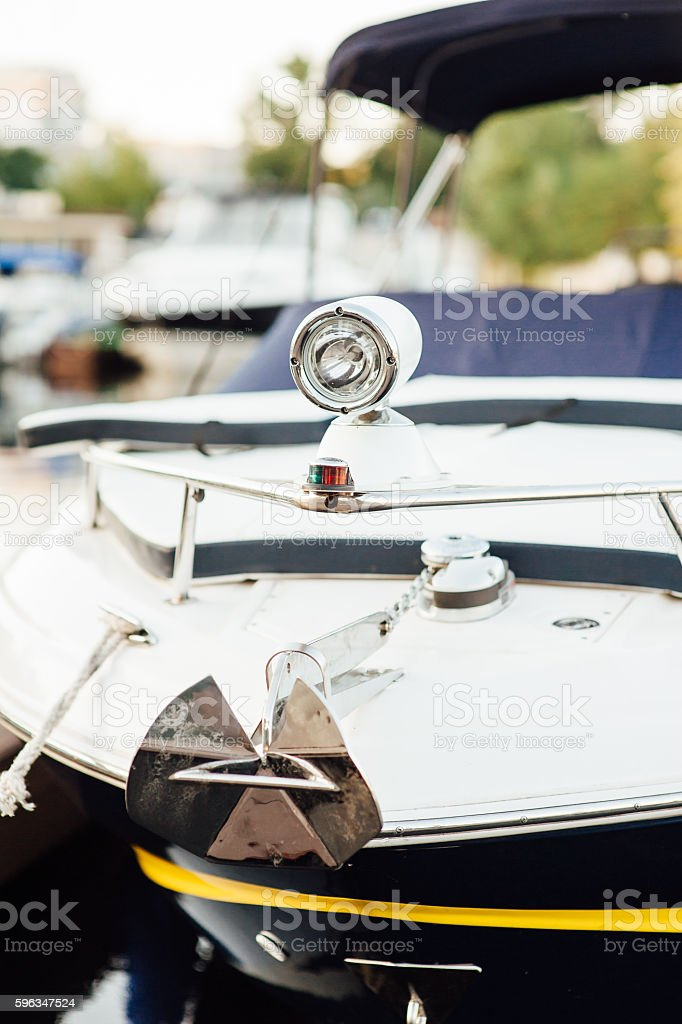front lights on the promenade yacht Lizenzfreies stock-foto