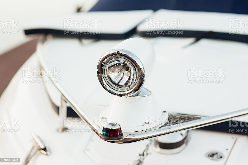 front lights on the promenade yacht royalty-free stock photo