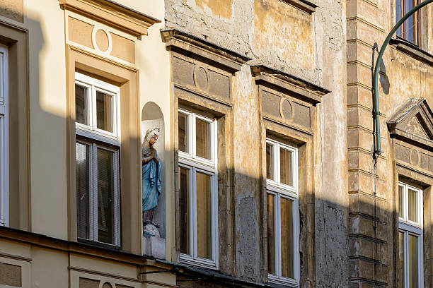 Front of a building in Krakow Front of a building in the oldtown of Krakow abridgment stock pictures, royalty-free photos & images