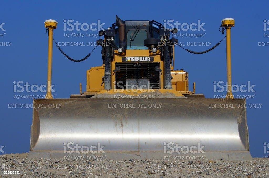 Frente de uma escavadora de Caterpillar (CAT) D6T LGP - foto de acervo