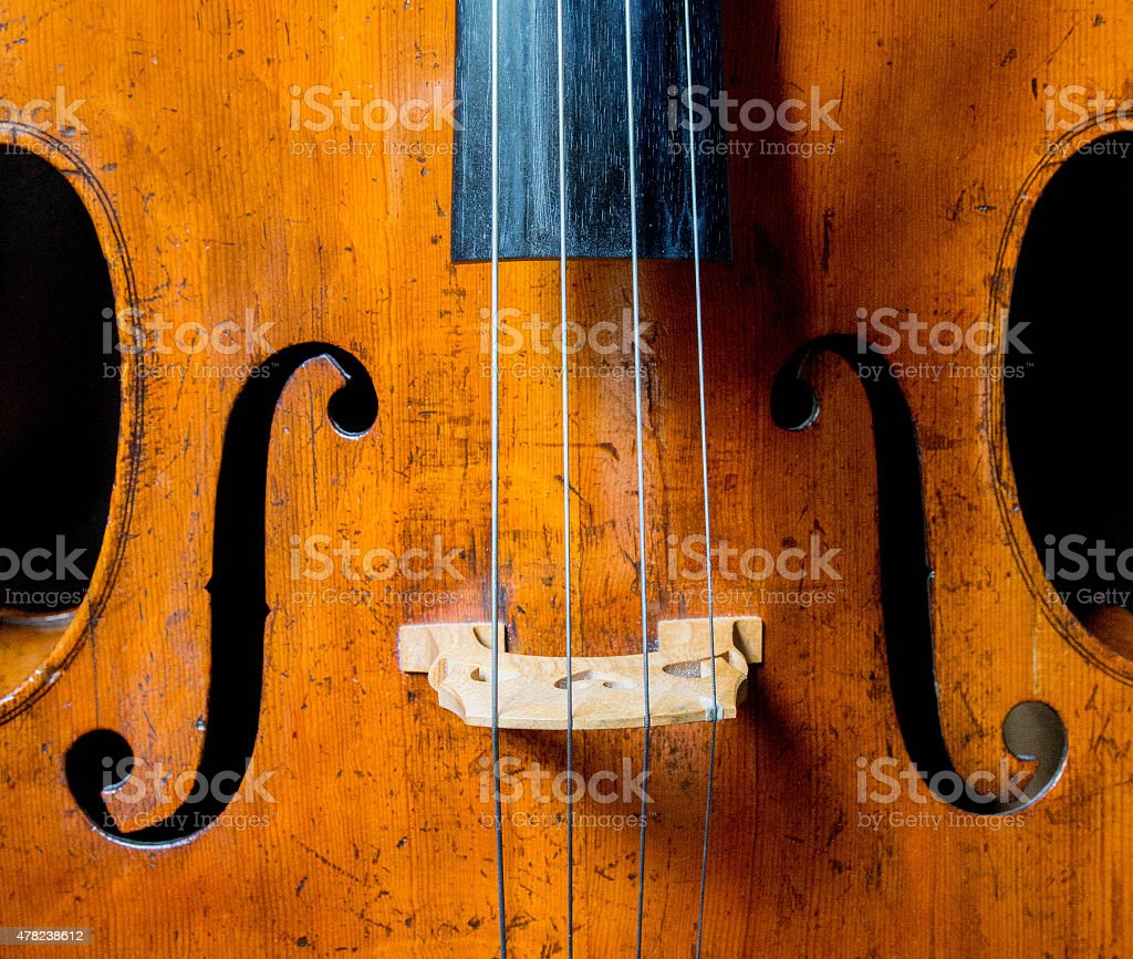 Front of a cello stock photo