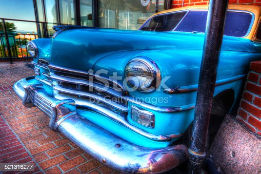 467735055 istock photo Front of a Classic American 60s car 521316277