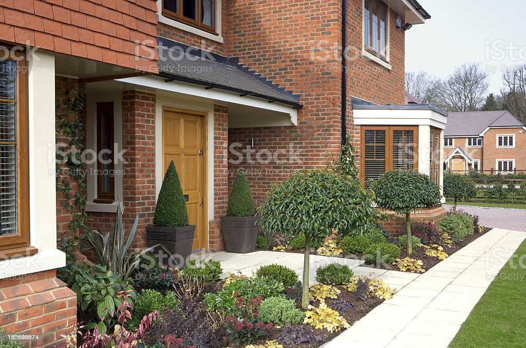 Front of a new luxury house royalty-free stock photo