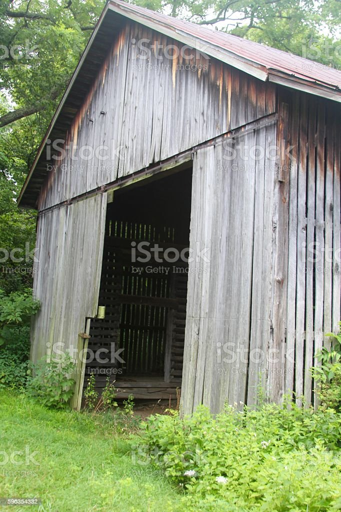 Front of a Old Barn royalty-free stock photo