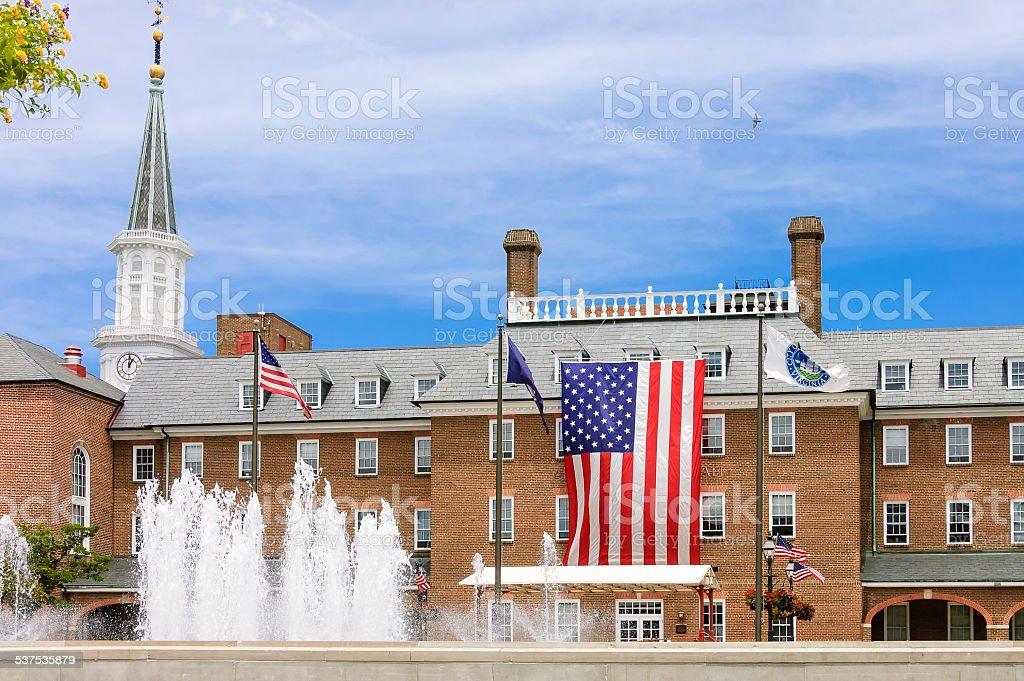 front of Alexandria city hall stock photo