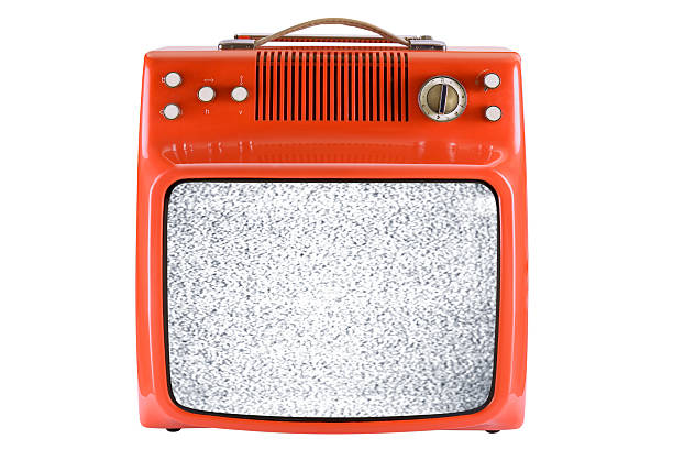Front of an old orange TV with interruption http://www1.istockphoto.com/generic_image_view/31041/31041 portable television stock pictures, royalty-free photos & images