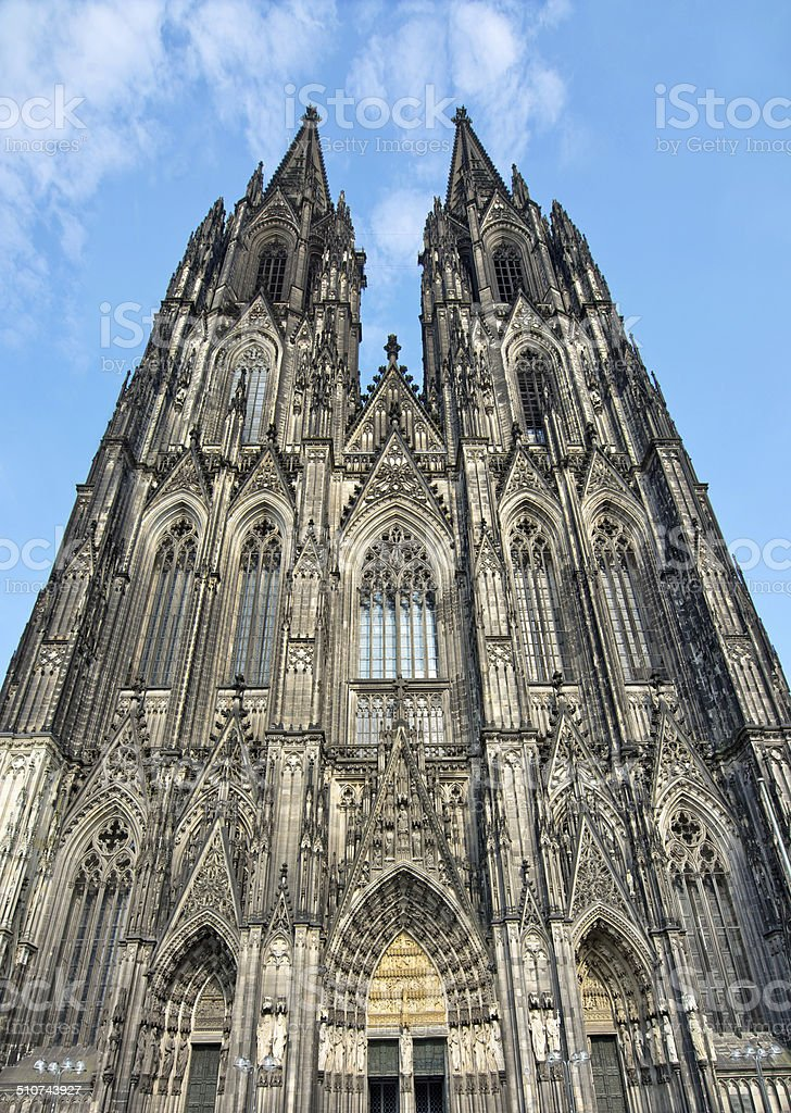 Front of cologne cathedral, Germany stock photo