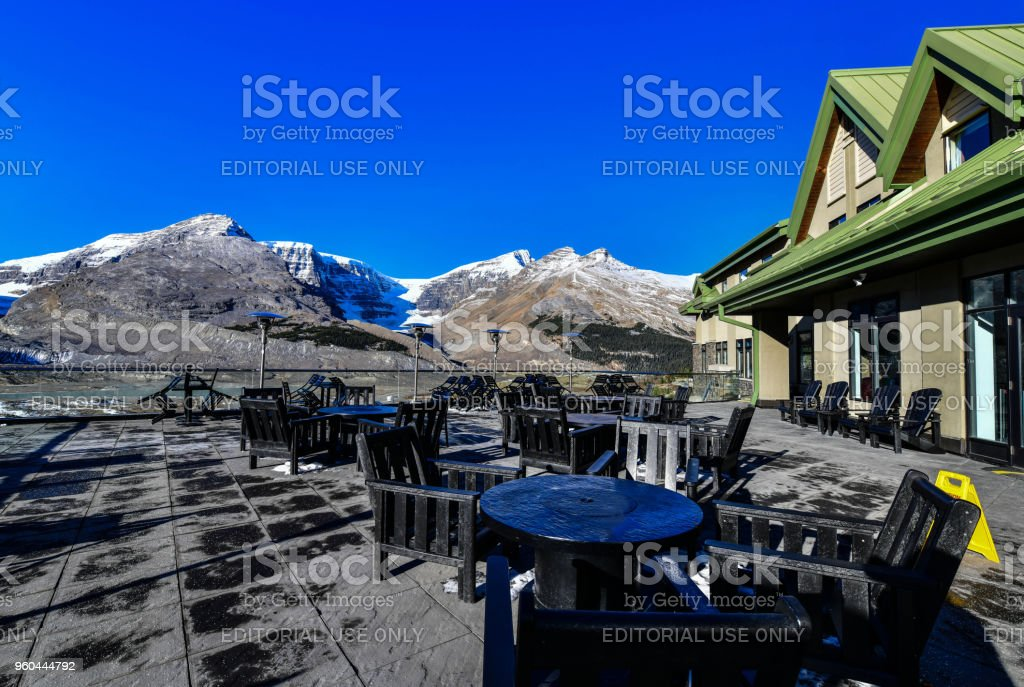 front of Glacier View Inn Hotel,Canada stock photo