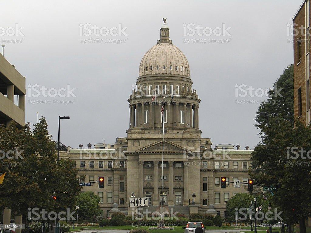 Front of Idaho Capitol stock photo
