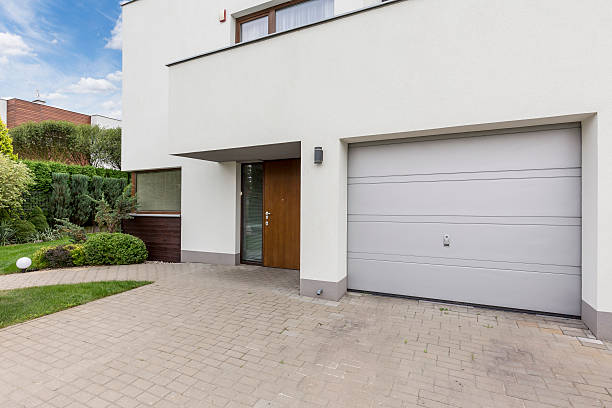 Front of modern house stock photo