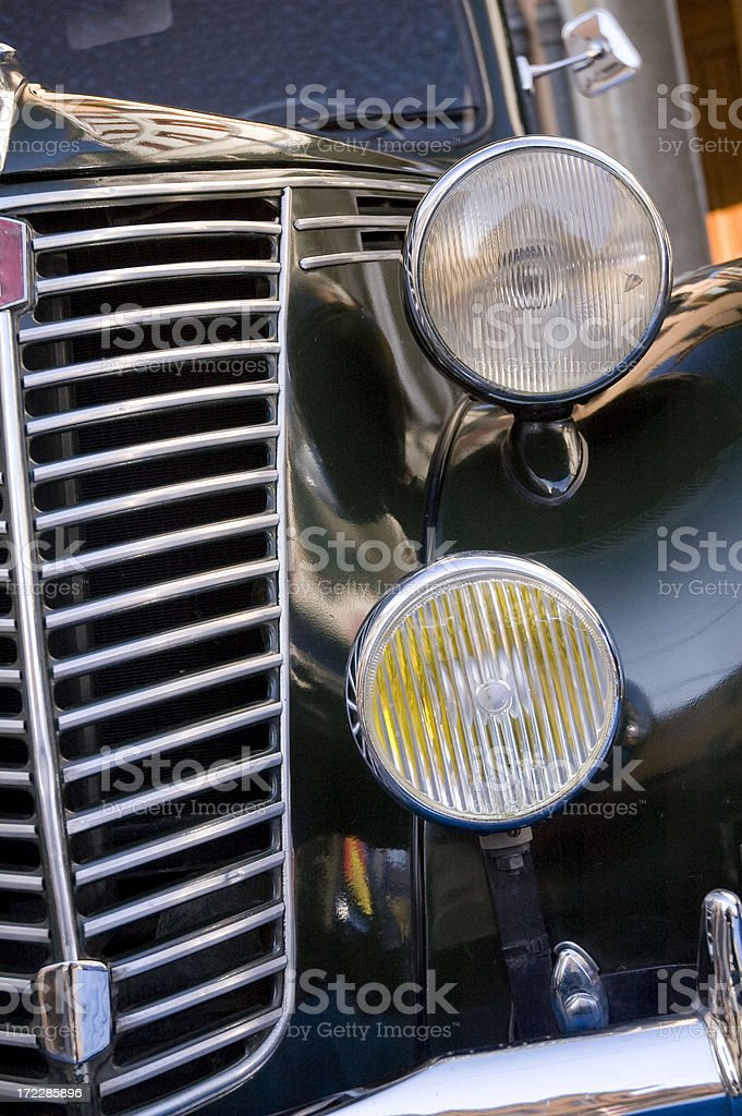 front of old car royalty-free stock photo