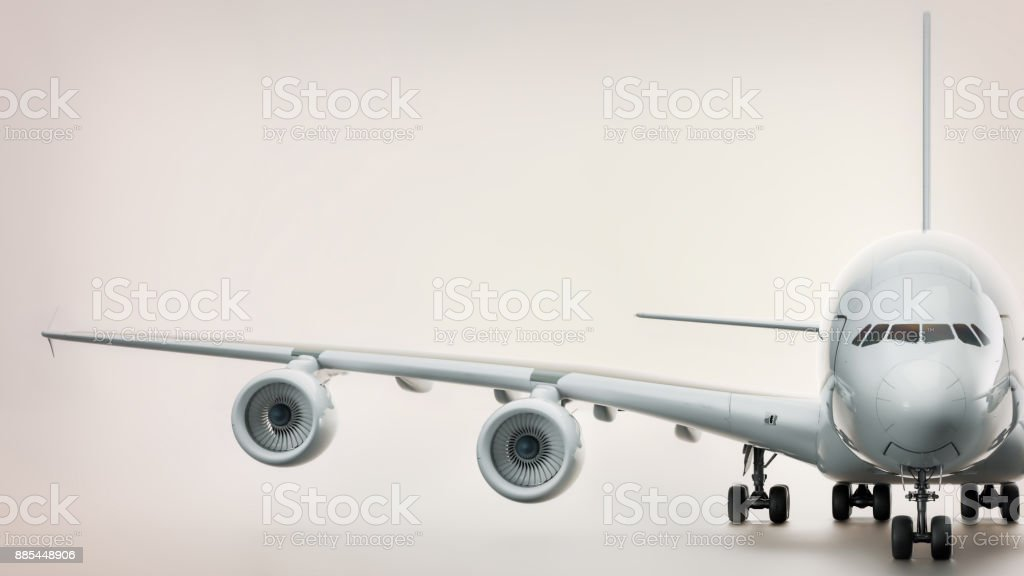 Front of plane. stock photo