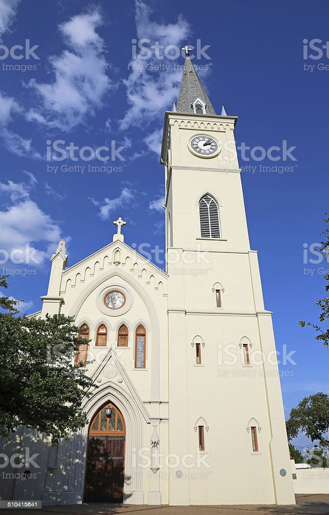 Front of San Augustin de Laredo stock photo