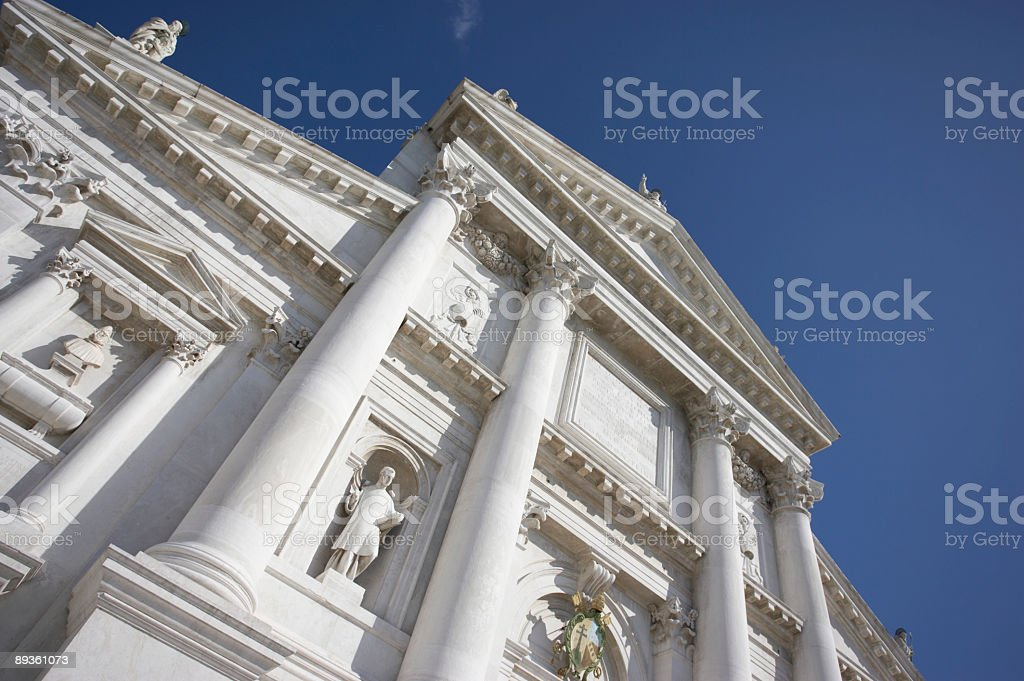 front of san giorgios cathedral in venice royalty free stockfoto