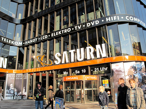 Front of Saturn Store at Shopping mall Europa Center (Berlin)