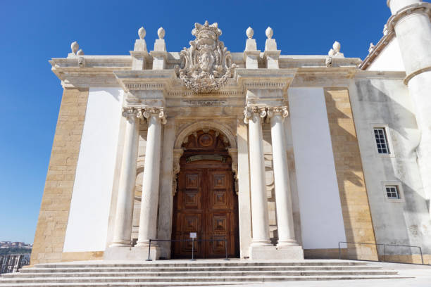 Front of the Joanina Library in Coimbra, Portugal - stock photography - foto stock