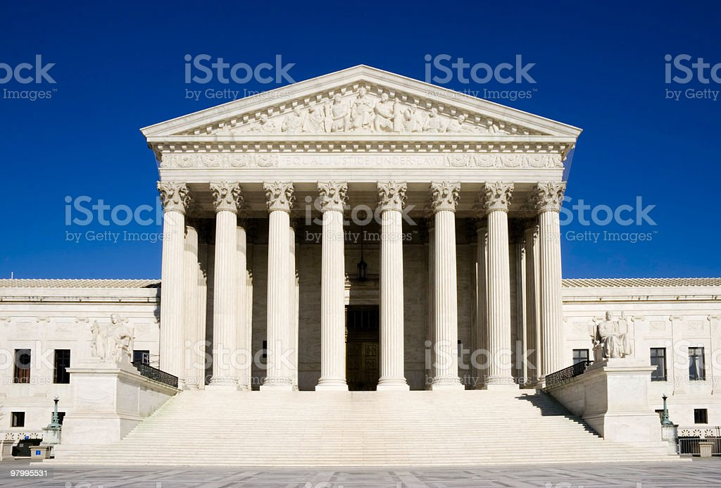 Front of the U.S. Supreme Court royalty free stockfoto